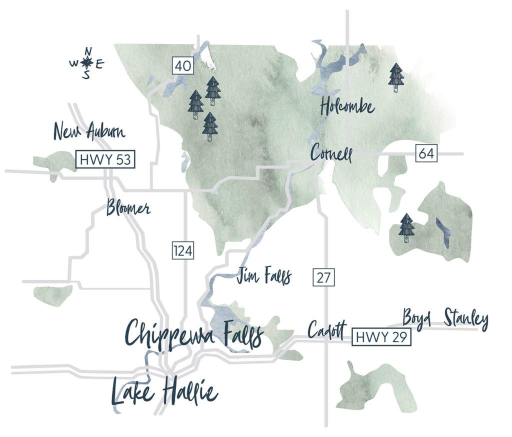 Go Chippewa Falls Map